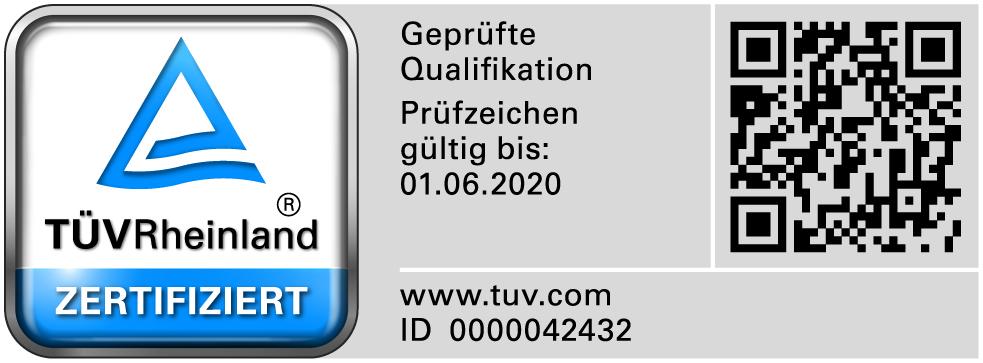 Zertifiziert durch den TÜV Rheinland